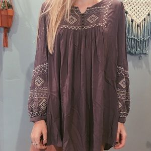 Super soft embroidered bohemian dress